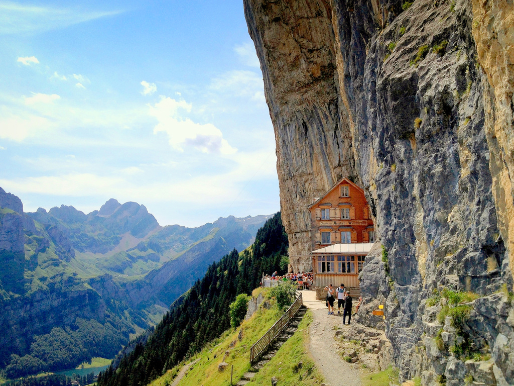 Äscher Cliff Restaurant, Швейцария