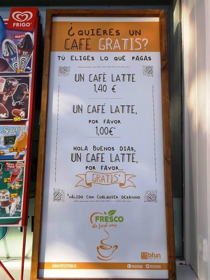 Сколько стоит кофе в Испании