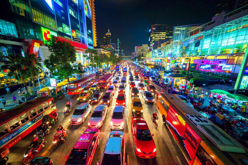 Трафик на дорогах Бангкока