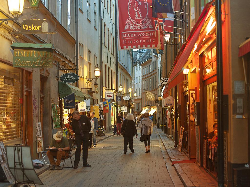 Улочки в Гамла Стан, Стокгольм