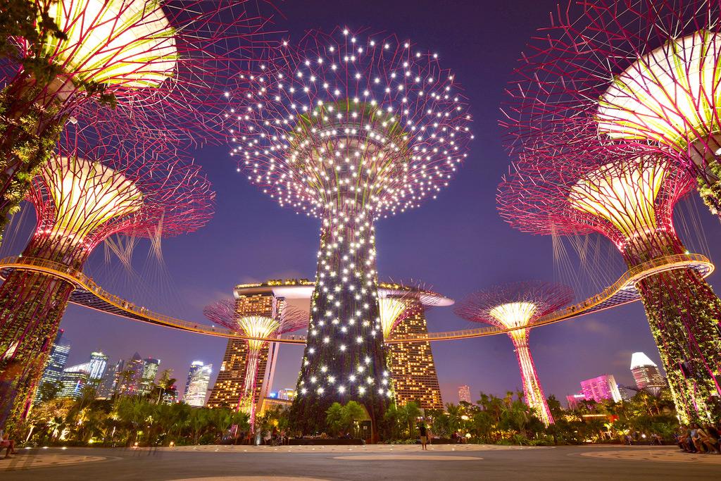 Скульптуры в Садах у Залива, Сингапур