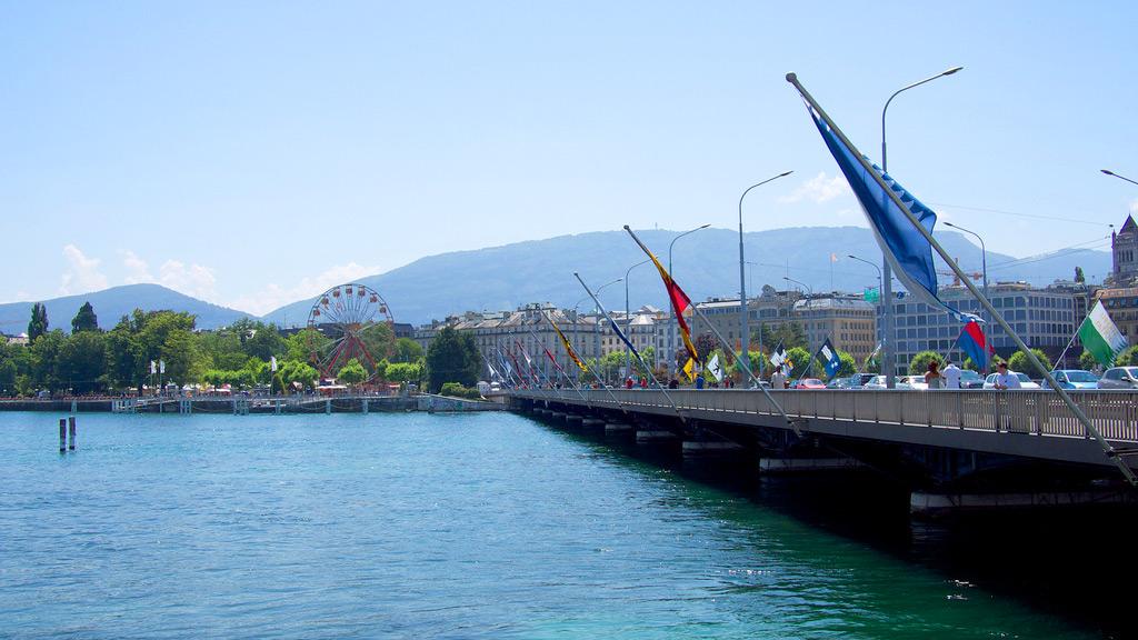 Мост Монблан в Женеве