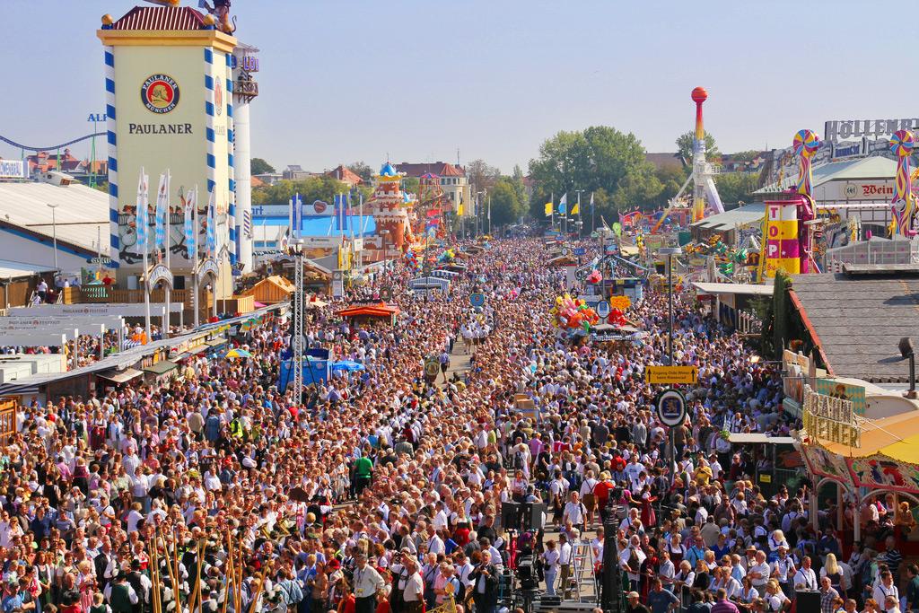 Парад на Октоберфест в Мюнхене