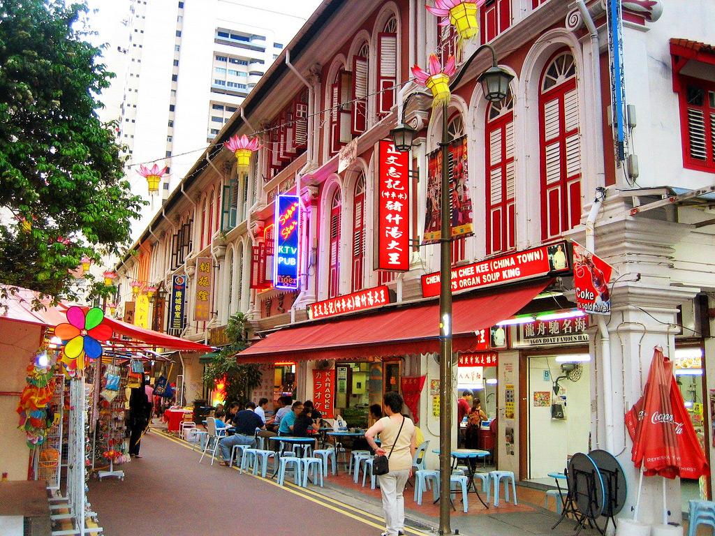 Ресторан в Чайнатауне, Сингапур
