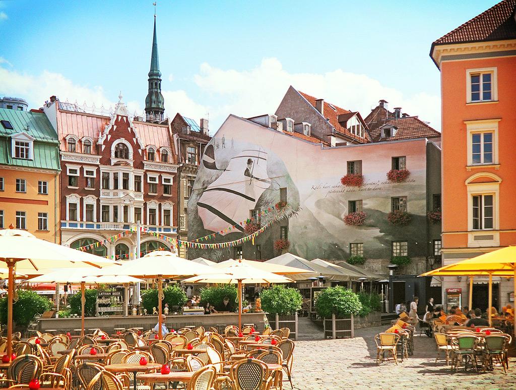 Кафе в старом городе. Рига