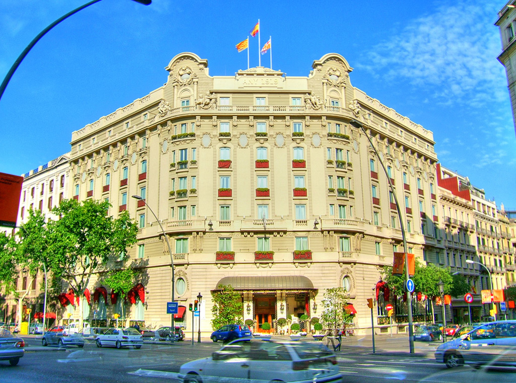 Ritz hotel on Gran Via, Barcelona