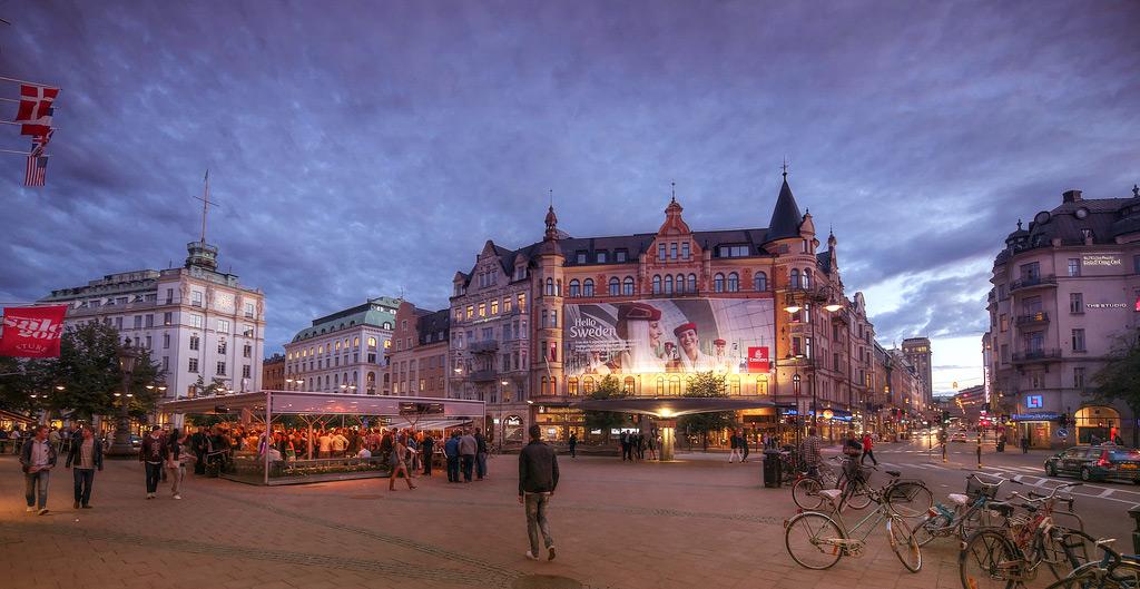 Площадь Стуреплан в Стокгольме