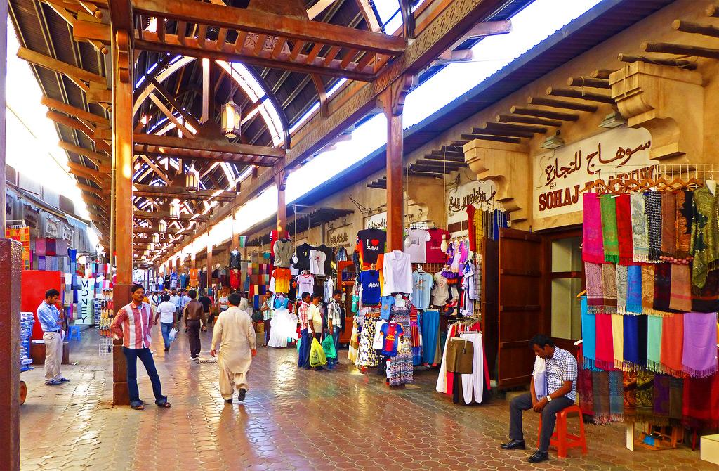Текстильный рынок в Дубае