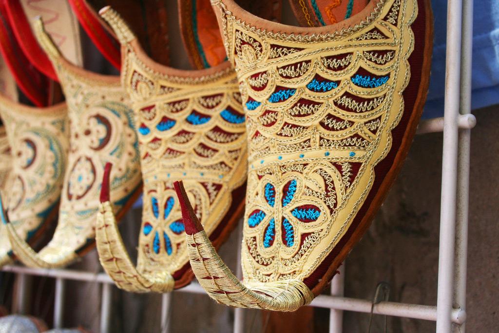 Обувь на текстильном рынке Дубая