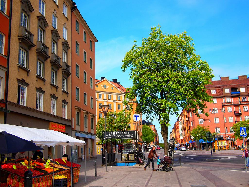 Квартал Васастан в Стокгольме