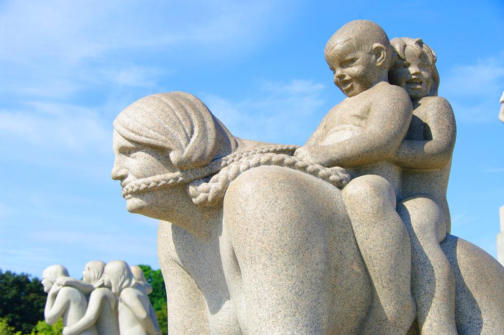 Скульптуры в парке Вигеланда, Осло