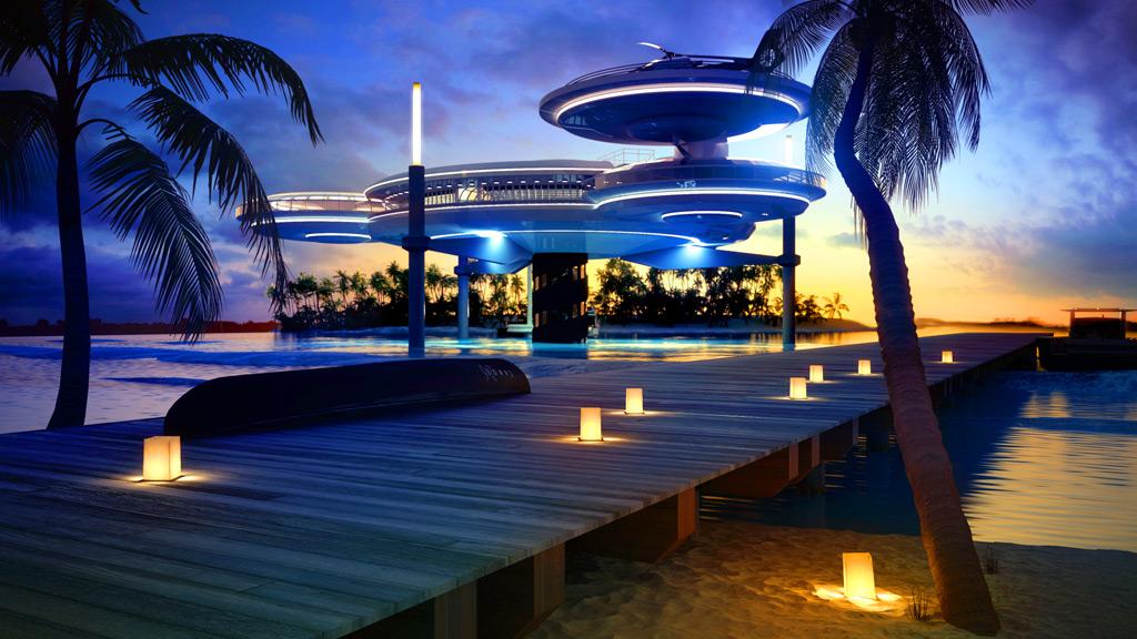 Архитектура Hydropolis Underwater Hotel Dubai