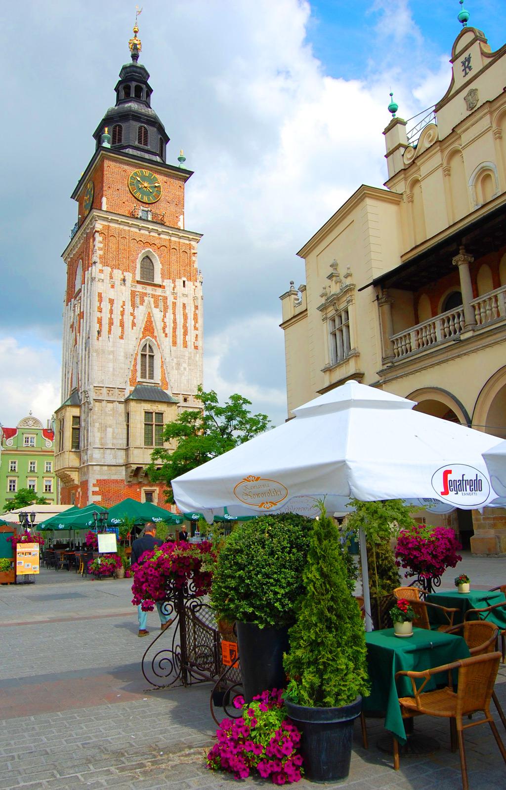 Рыночная площадь Кракова, Польша