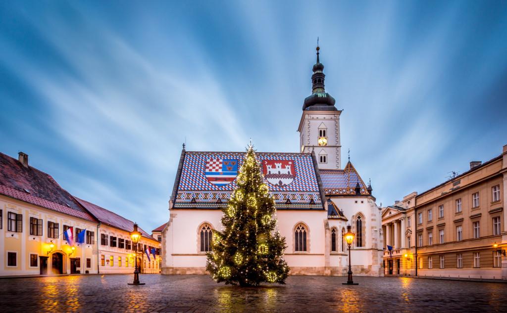 Новогодняя елка в Загребе