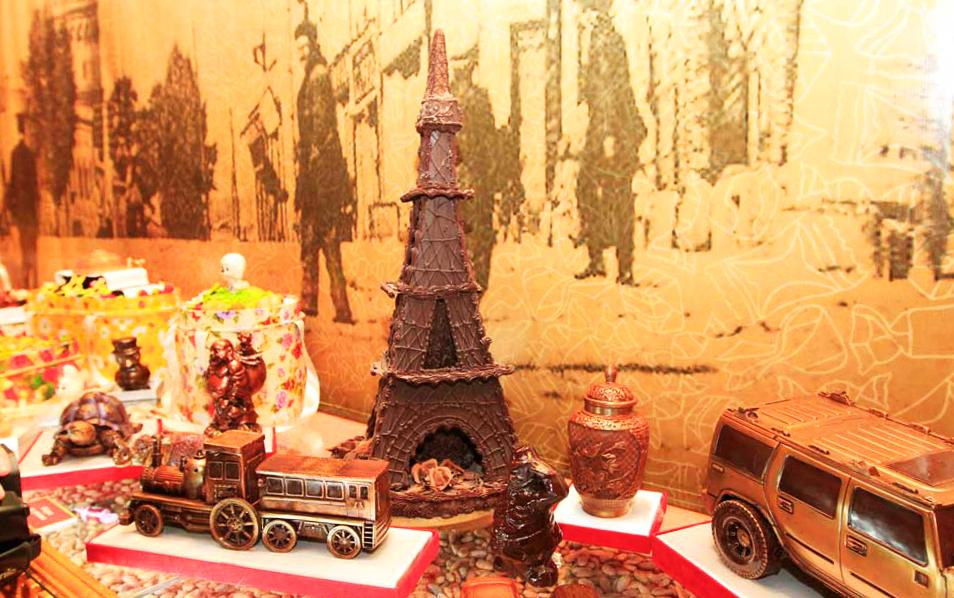 Экспозиция в музее шоколада АВК во Львове