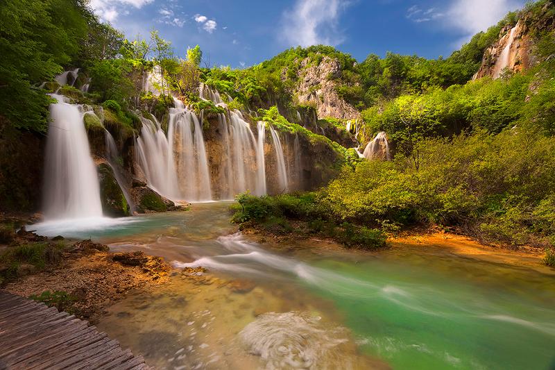 Водопады, Плитвицкие озера, Хорватия