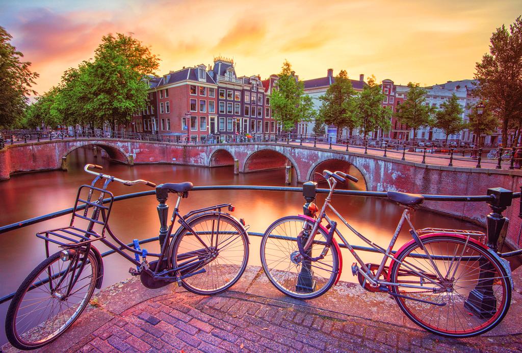 Амстердамские велосипеды