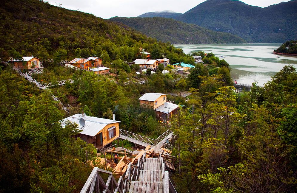 Деревня Калета Тортель, Чили