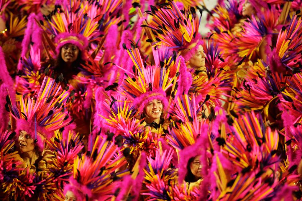 Карнавал в Бразилии, красочное шествие в 2014