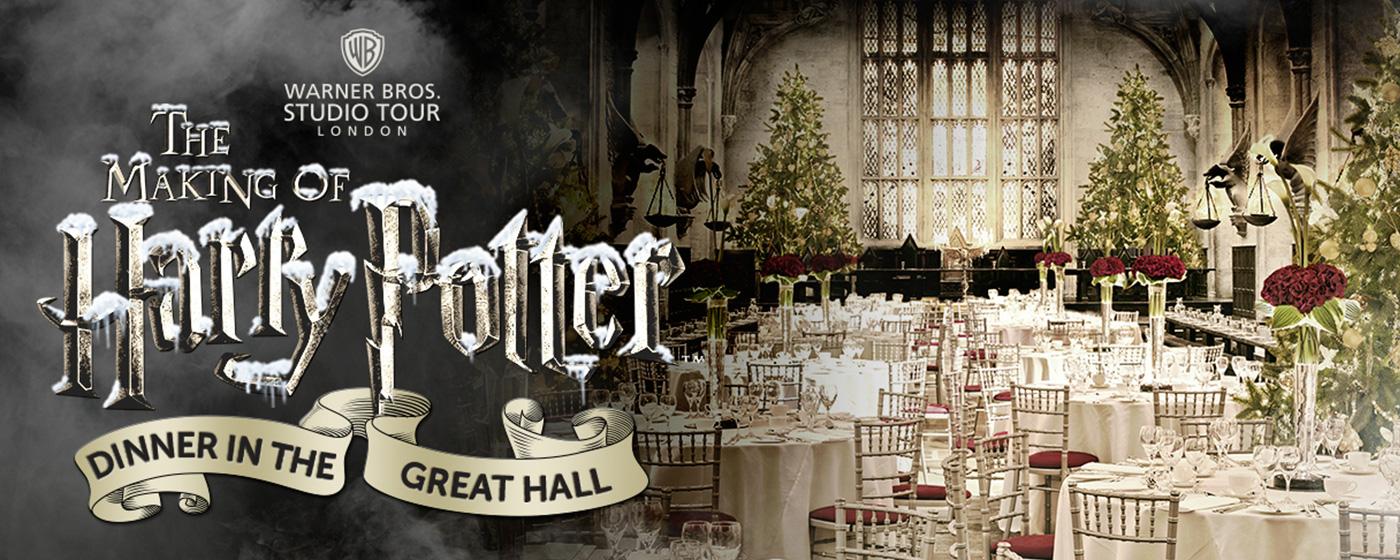 Рождественский ужин в Большом  зале Хогвартса