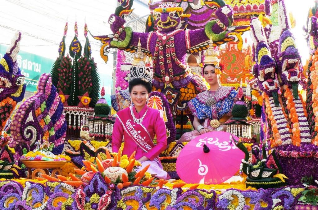 Фестиваль цветов в Таиланде, г. Чиангмай