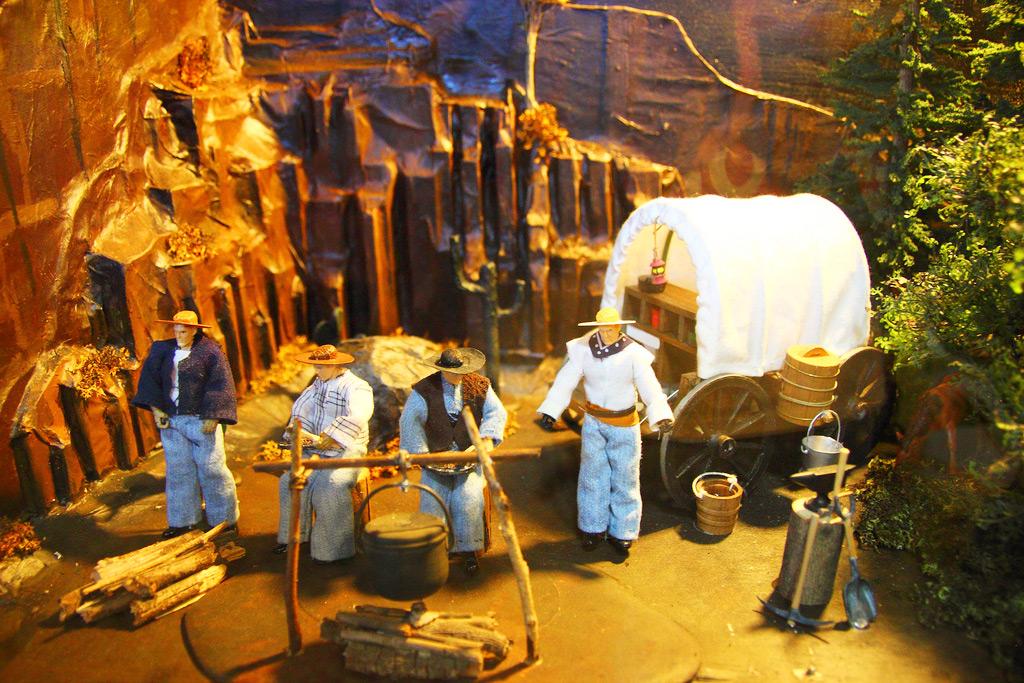 Диорама с ковбоями, Musèe Mècanique. Музей механики, Сан-Франциско