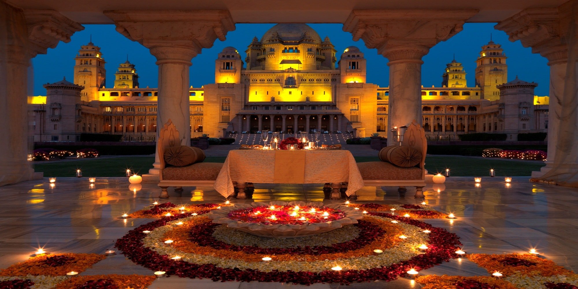 Оформление на Дивали в Индии