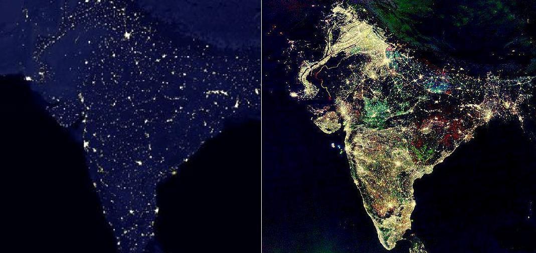 Сравнение: Индия в обычный день и в день Дивали