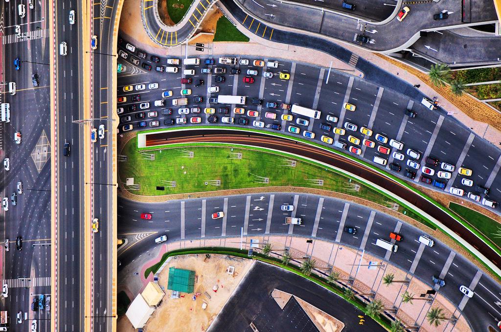 Городской трафик в Дубае