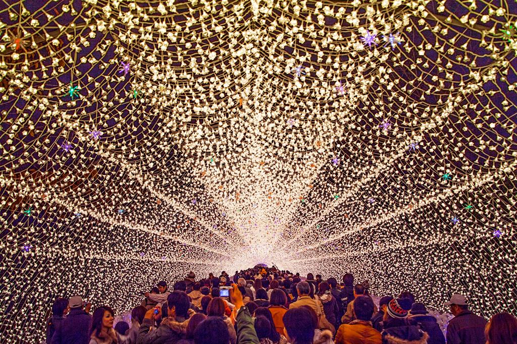Фестиваль огней в Японии