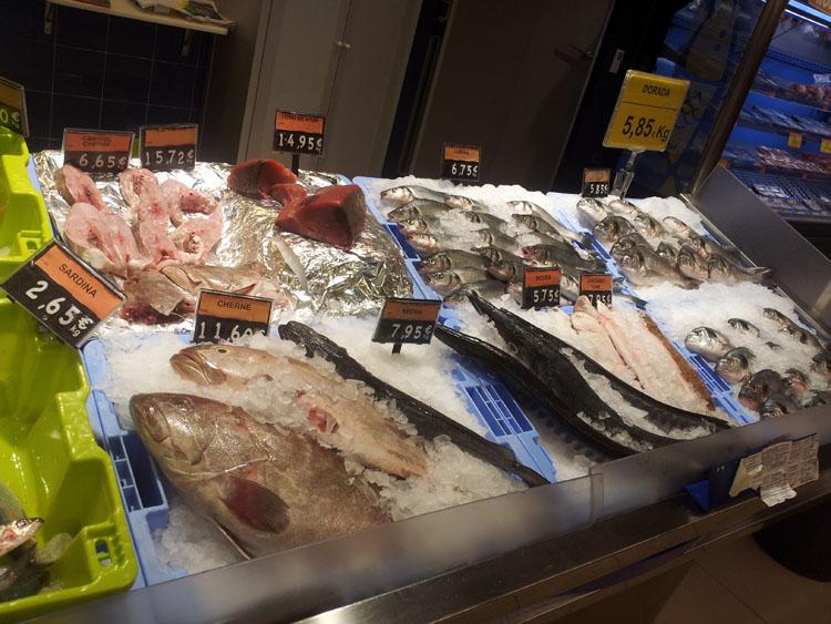 Цены на рыбу в Испании