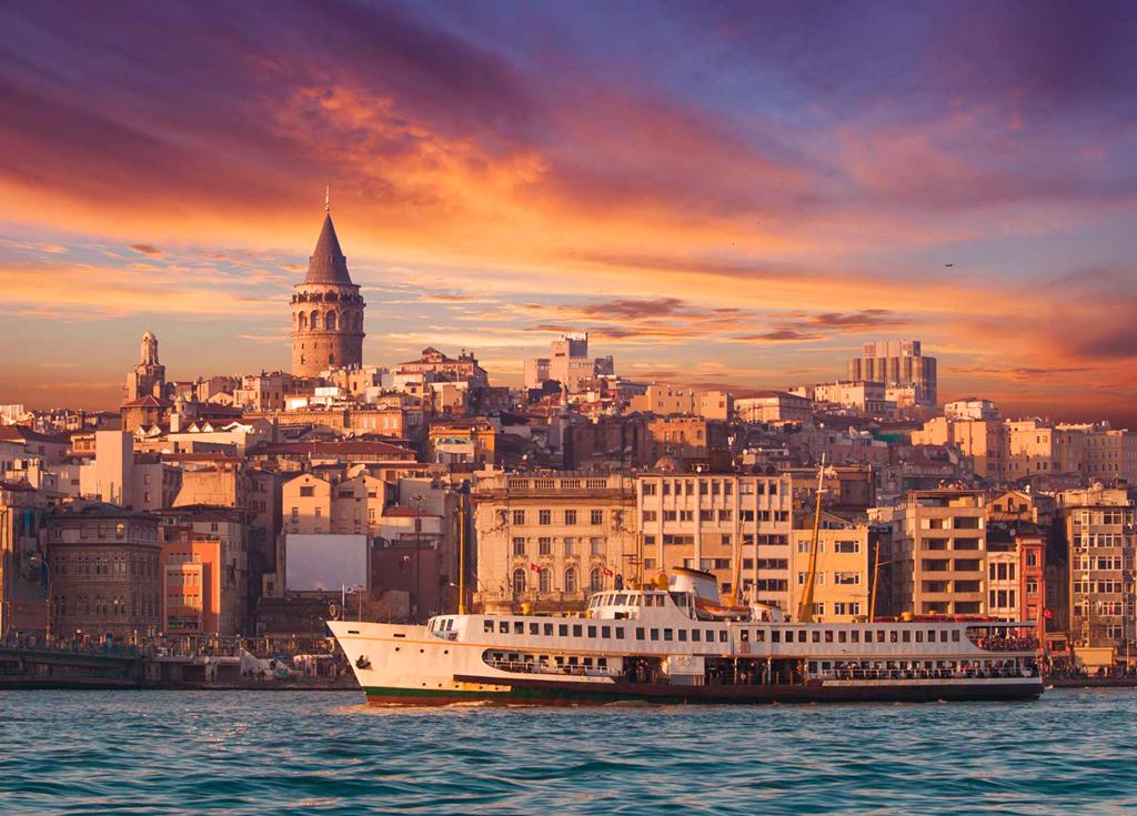 Вид на Галатскую башню, Стамбул