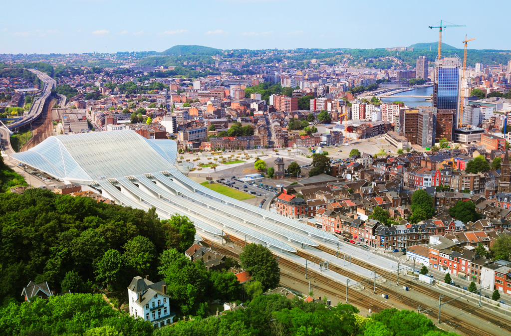 Вид на вокзал Льеж-Гийемен в Льеже