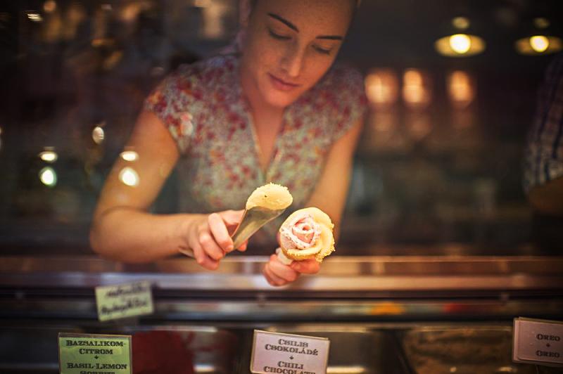 Кафе-мороженое Gelarto Rosa в Будапеште