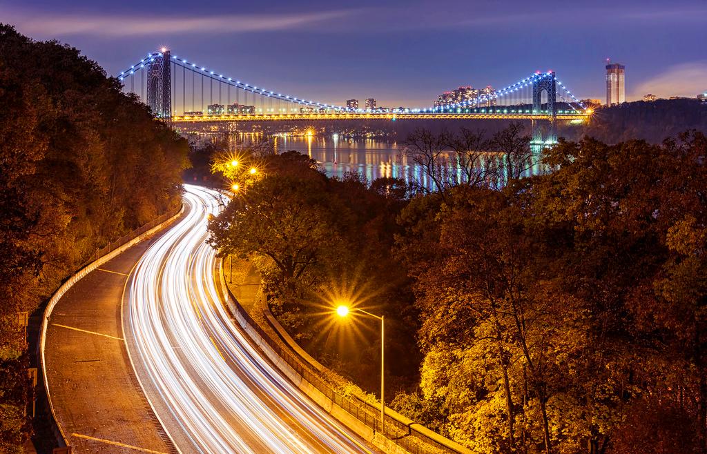 Мост Джорджа Вашингтона в Нью-Йорке