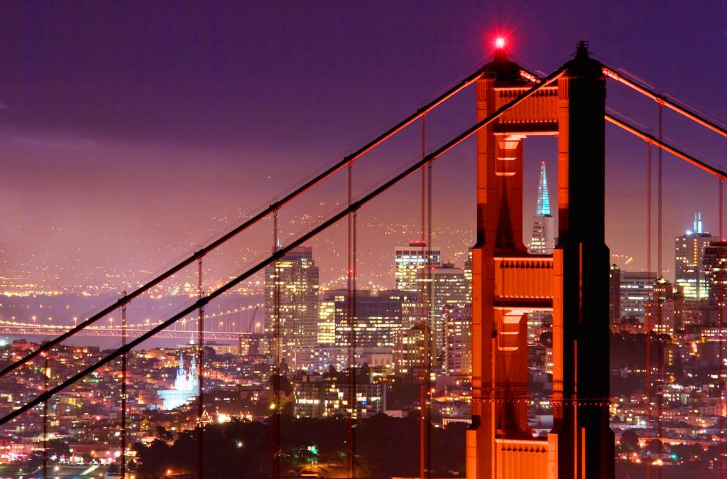 Мост Золотые Ворота в Сан-Франциско, США
