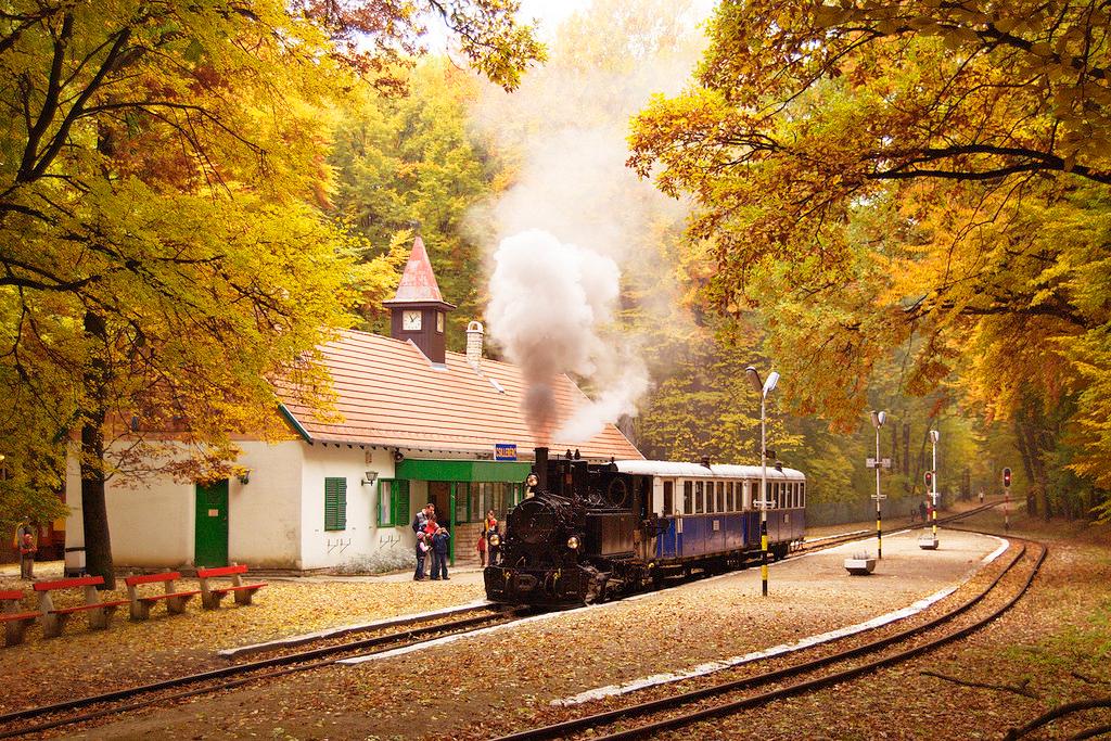 Детская железная дорога в Будапеште