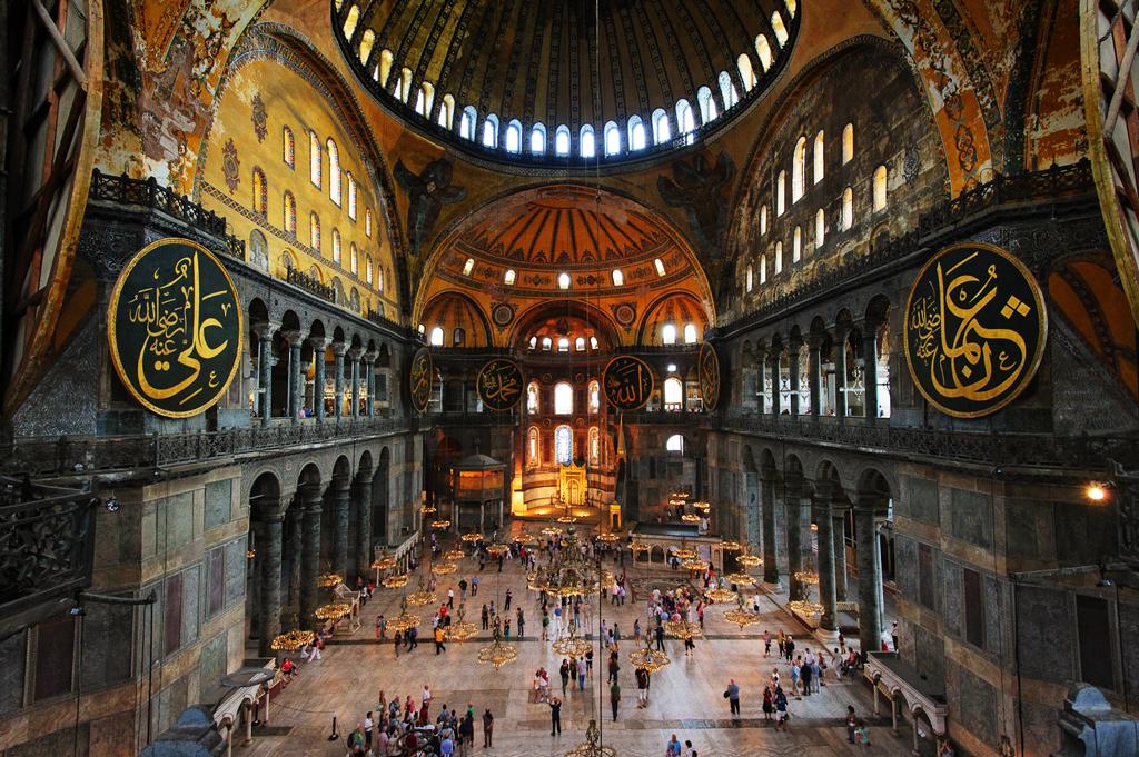 Центральный неф собора Святой Софии, Стамбул