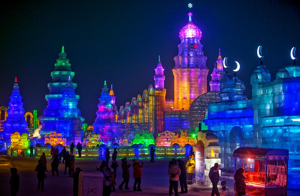 Харбинский международной фестиваль снежных и ледяных скульптур, Китае