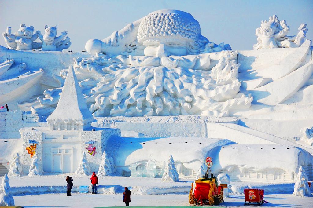 Международный фестиваль снежных и ледяных скульптур в Харбине