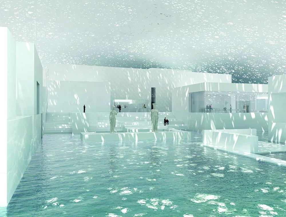 Залы музея Лувр в Абу-Даби
