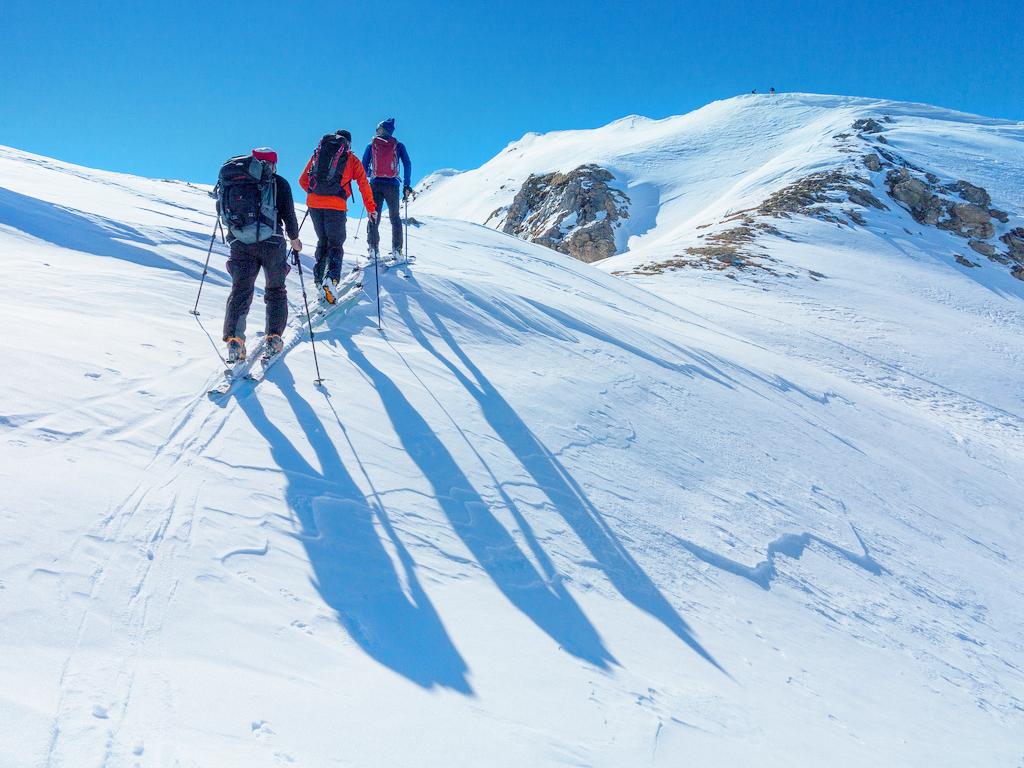 На лыжах из Ишгль (Австрия) в городок Самнаун (Швейцария)