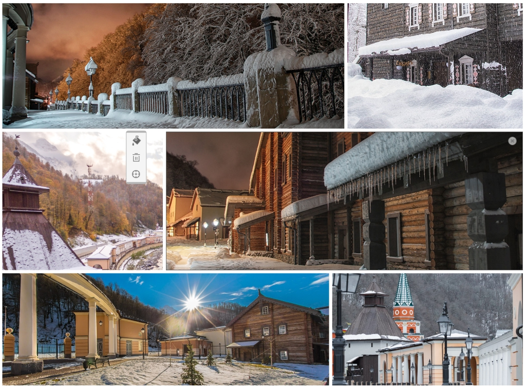 Этнопарк Моя Россия зимой