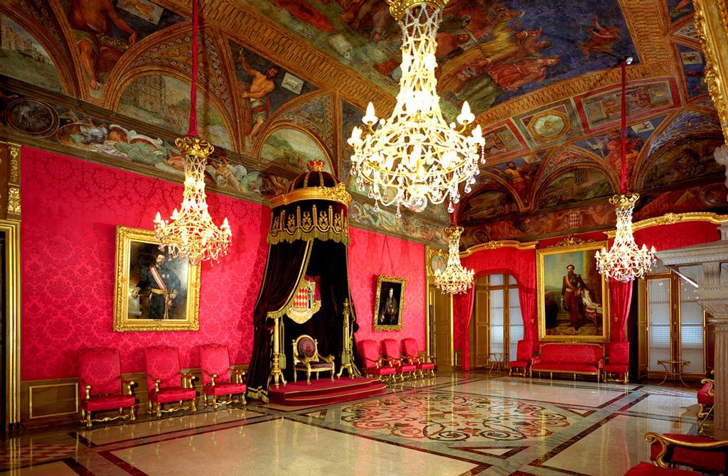Княжеский дворец Монако, тронный зал