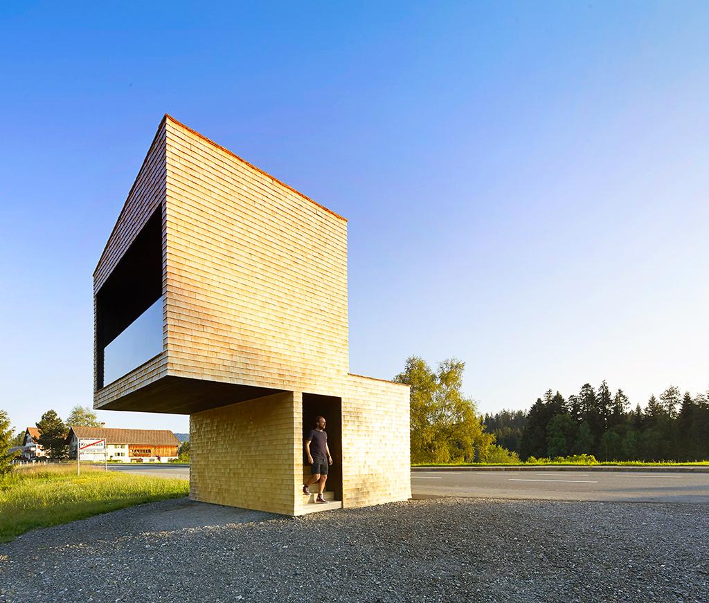 Автобусная остановка, Австрия, Крумбах