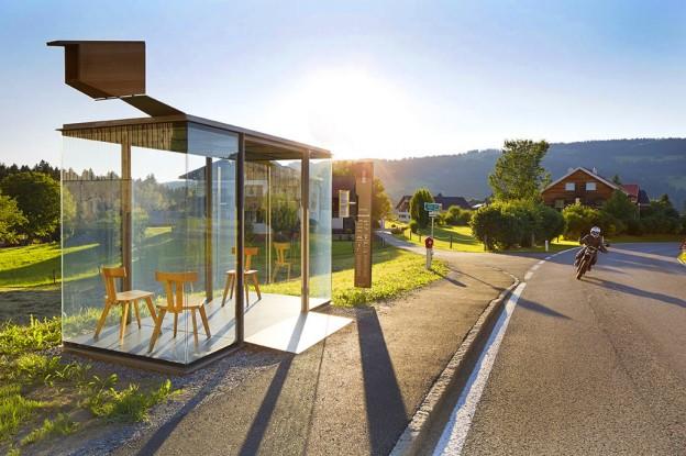 Крумбах, автобусная остановка, Австрия