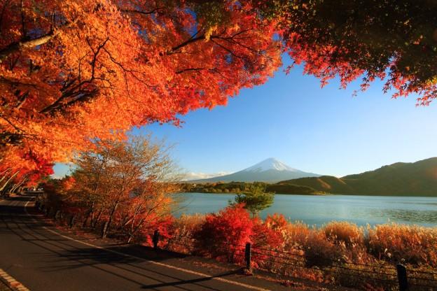 Осень на озере Кавагути, Япония