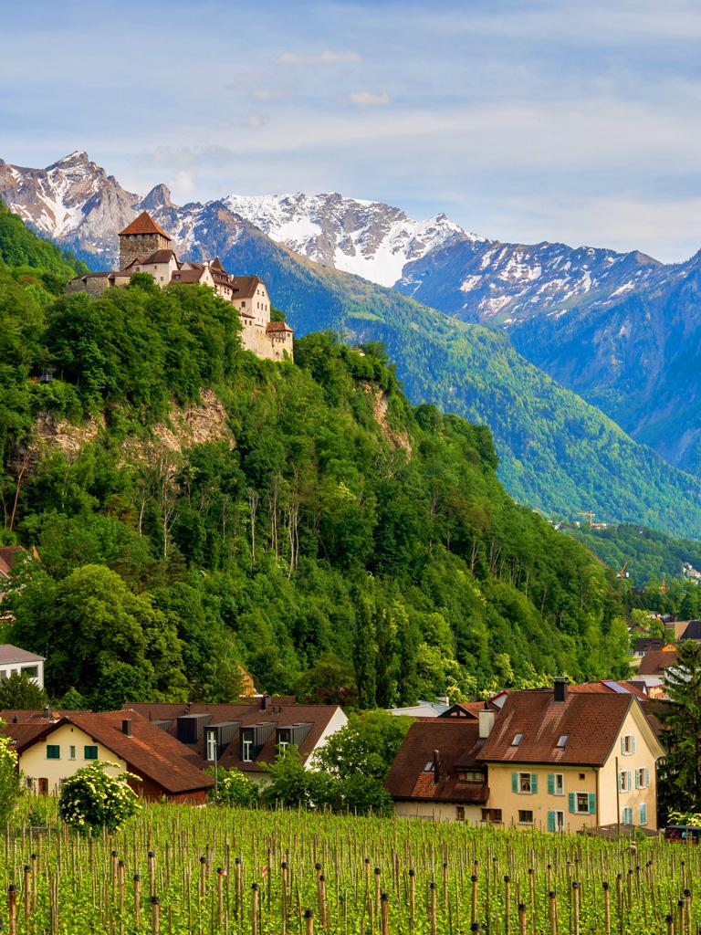 Замок Вадуц в княжестве Лихтенштейн