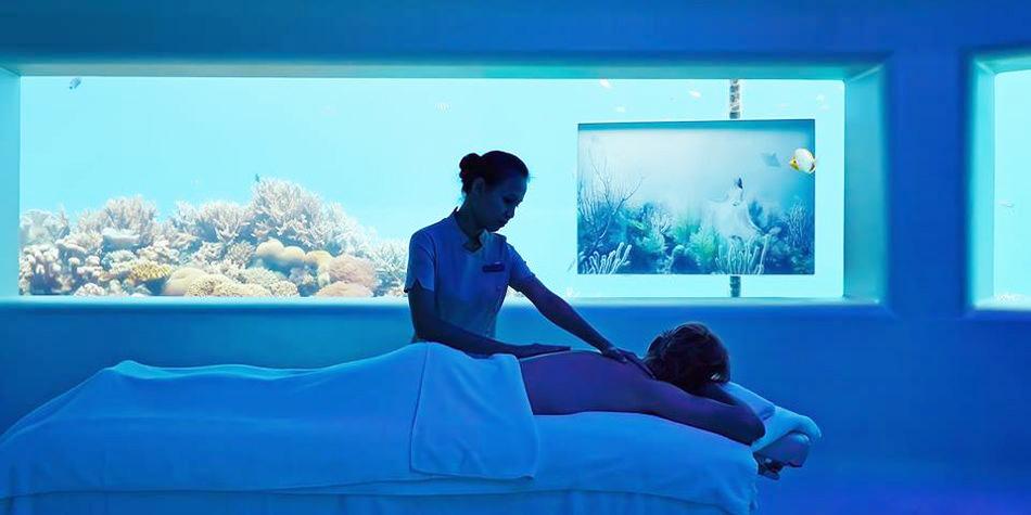 Мальдивы (отель Huvafen Fushi) – салон спа-процедур Lime