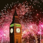 Новогодний фейерверк в Лондоне 2015